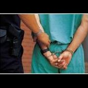 police with handcuffs