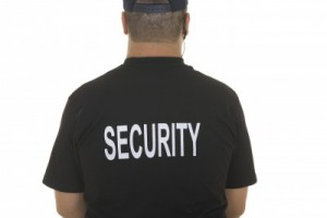 back of security guard