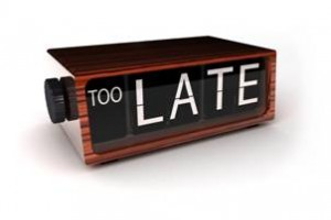An Issue Of Timing
