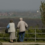 retired couple at bridge