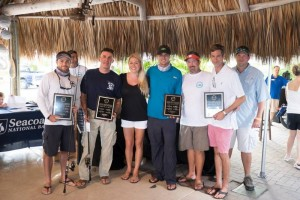 2014 First Place Winners team Merrill Lynch with 2014 Top Guide Captain Adam White from Fort Pierce