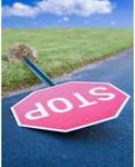 fallen stop sign